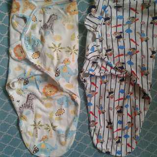 2 pcs Summer Swaddle Me Infrant Warp size:SMALL/MED