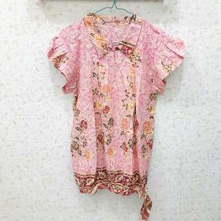 Atasan Baju Batik Perempuan Pink