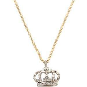 Juicy couture crown necklace gold/silver