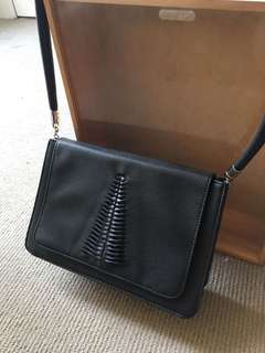 Black bag with front detail