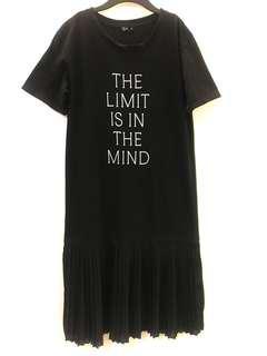 🚚 黑色 短袖 長版洋裝