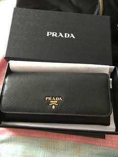 100% Authentic Prada Saffiano Wallet