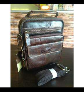 Kickers Original Design Real Leather Sling Bag