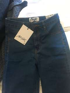 Brand new women's blue jeans with tags skinny leg