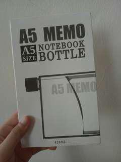 🚚 A5筆記本造型水壺 透明原色 420ml