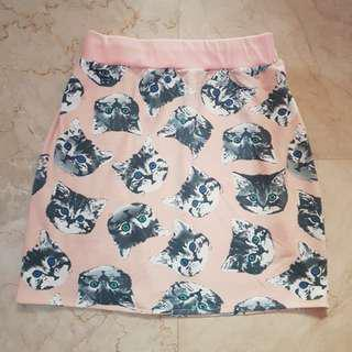 Cute Cat Faces Mini Skirt 😻