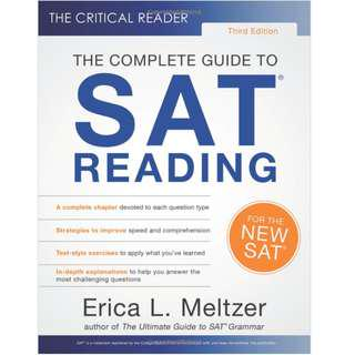Erica L. Meltzer SAT Grammer and Reading LATEST EDITION 2018