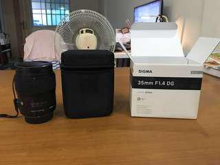 Sigma Art 35mm F1.4 F mount (Nikon)