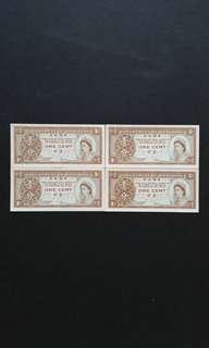 1981-1986 Hong Kong 1 cent Paper Currency Banknote - Queen Elizabeth II