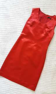Red Silk Dress by Edmunser  size 4 #MidSep50