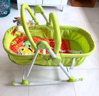 3 in 1 Baby Cot/Rocker/Seat