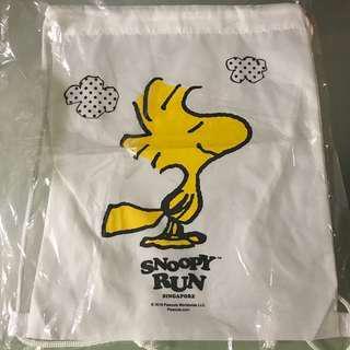 🚚 Snoopy Run Woodstock Drawstring Bag
