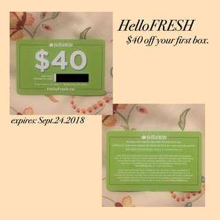 helloFRESH card