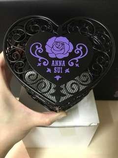 Anna Sui 黑色心形鐵有蓋儲物盒/儲物籃