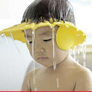 🚚 【二手】寶寶護耳洗髮帽