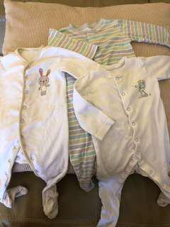 Mothercare Sleepsuits