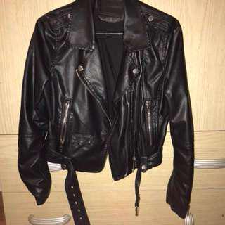 Zara size small leather jacket