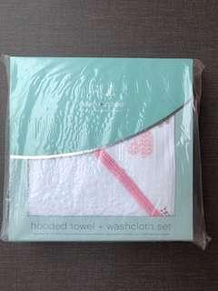 Aden Anais Hooded Towel & Washcloth Set - Bathing Beauty