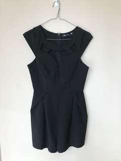 Black Cut Out Playsuit