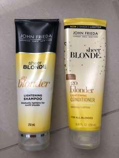 John Frieda Lightening Shampoo and Conditioner