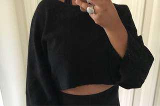Zara cropped oversized sweater