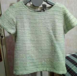 Minimal Tweed Knit Top Original