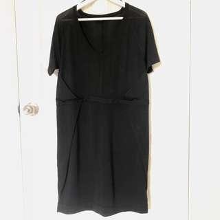 COS black knit dress