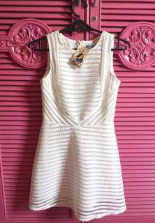 REPRICED Classy white just g dress