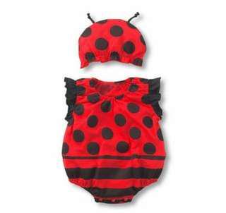 🚚 【現貨】瓢蟲 新生兒 寶寶 連身衣/包屁衣