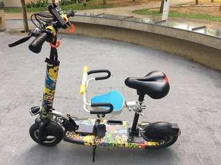 E-scooter w child seat PMD
