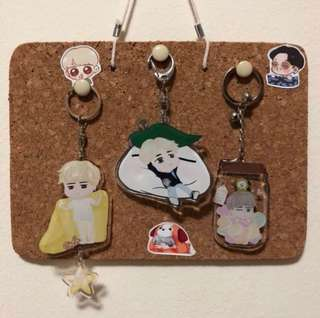 [INSTOCK] Jimin Acrylic and Epoxy Keychain