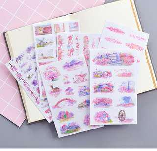 Sticker Sheets - Sakura blooms (6 sheets)