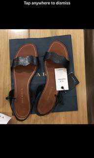 Zara Leather Wave Sandals