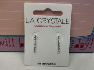 925 純銀swarovski 水晶耳環