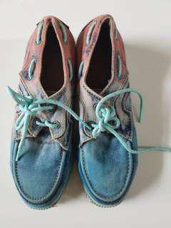 Pink Blue Jean Shoes