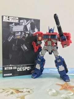 Transformers SND-01 Primo Vitalis Optimus Prime and Maketoys MTRM08 Despotron Masterpiece Megatron