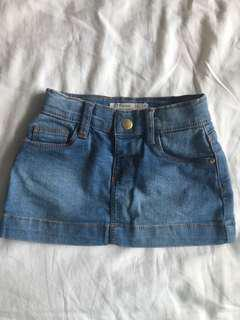 Zippy Denim Skirt 12-18m