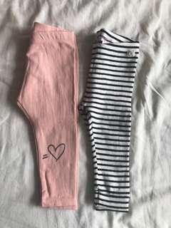 Zara Kids Leggings Set of 2 - 12-18m
