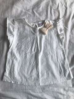 Zara Kids Embroidered Bow Top