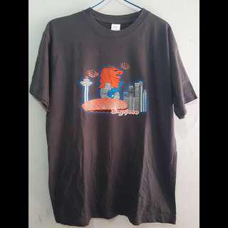 Kaos oleh oleh Singapur Singapore Abu Dewasa Tshirt pria