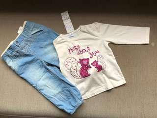 F&F Baby t-shirt and jeans set - BNWT