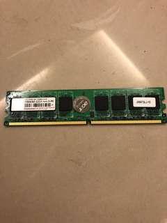 🚚 創見 1G DDR2 記憶體