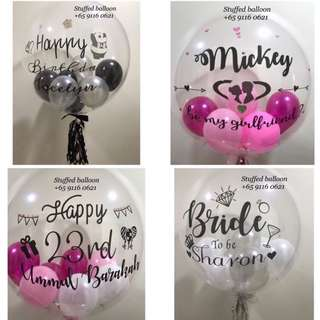 Bubble balloon, birthday balloon, graduation balloon, 100 days balloon