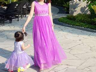 Purple gown/bridesmaid dress