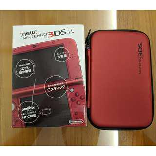 Nintendo New 3DS XL (Japan ver.) - Like New w/ 4 games, Case