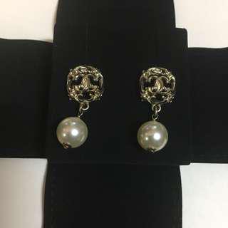 Chanel earrings 耳環 珍珠 復古