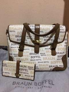 Braun buffel one set bag and wallet