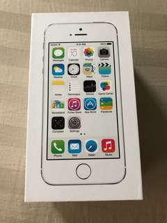 Iphone 5S Silver Box Only