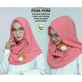 Hijab jeblosan pom-pom
