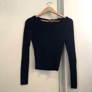 ZARA Knit Top with Back Detailing
